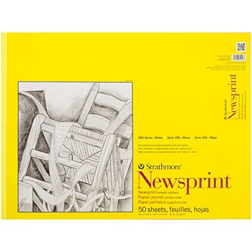 Brand New Strathmore Smooth Newsprint Paper Pad 18''''X24''''-50 Sheets Brand New by M1N4B5
