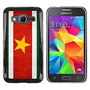 Be Good Phone Accessory // Dura Cáscara cubierta Protectora Caso Carcasa Funda de Protección para Samsung Galaxy Core Prime SM-G360 // National Flag Nation Country Suriname