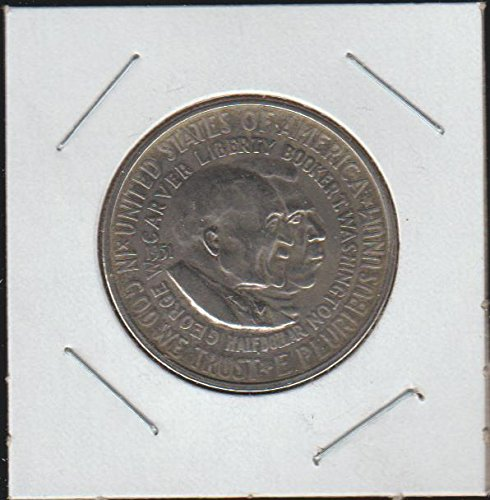 1951 Carver/Washington Commerative Half Dollar Choice About Uncirculated Details ()
