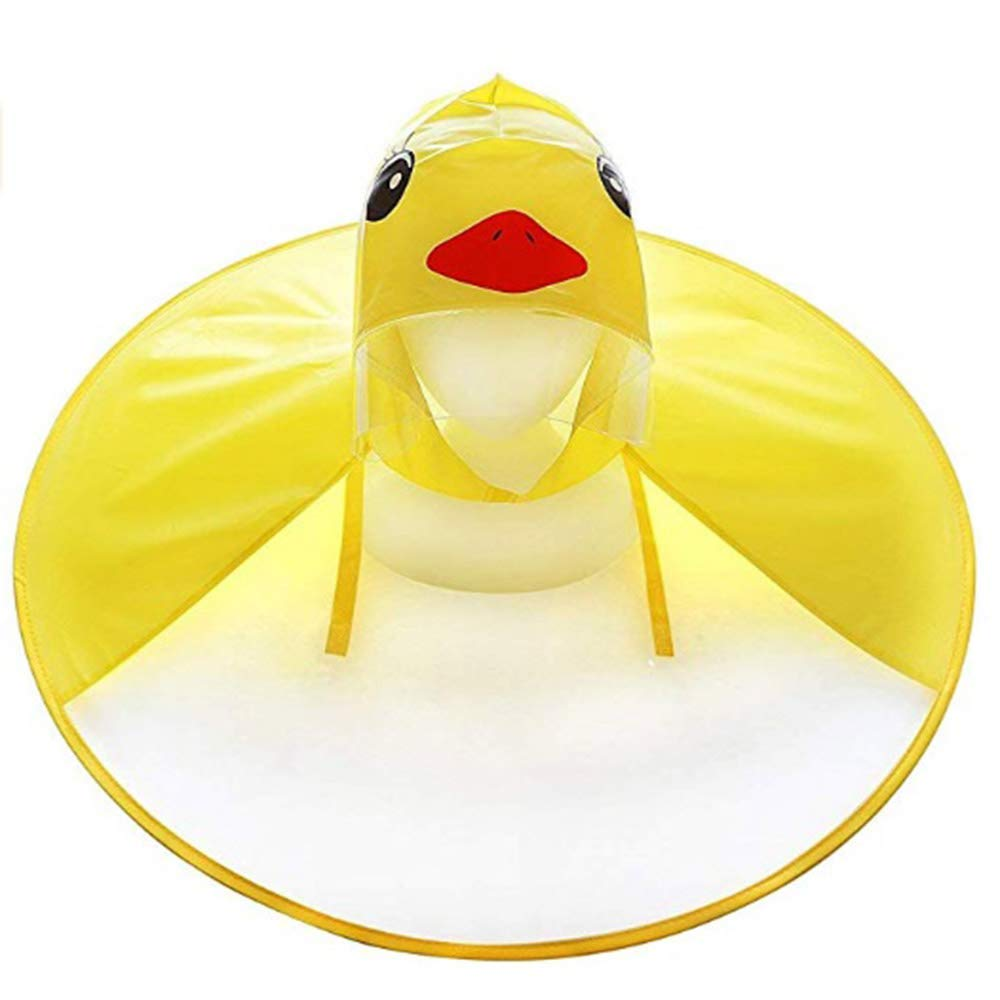 Songway Children/'s Raincoat Portable Cute Cartoon Raincoat for Yellow Duck,Kids Hooded Poncho Cloak ,Novelty