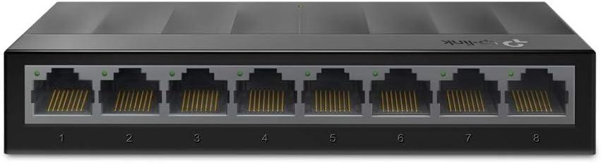 TP-Link LS1008G - Switch Ethernet de 8 Puertos (10/100/1000 Mbps, Velocidad hasta 2000Mbps,Plug and Play, sin Ventilador, no gestionado)