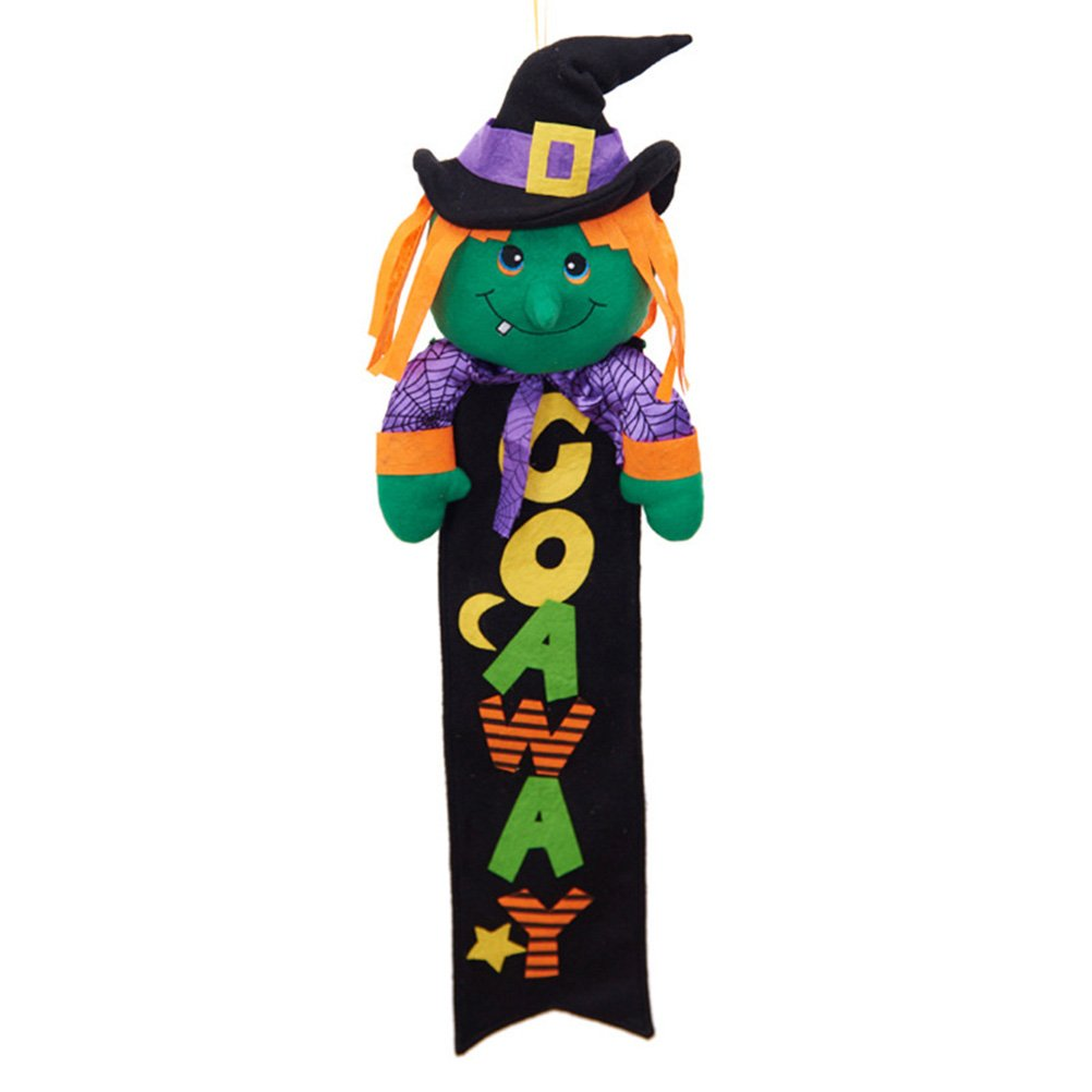 BESTOYARD Halloween Hanging Sign Hanging Decoration for Home Door Window Wall Bar Shopping Mall Party (Witch)