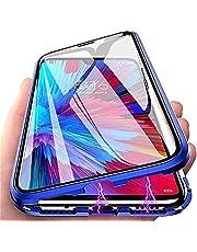 Magnetische Case voor Iphone 13 Mini/13/13 Pro/13 Pro Max Anti-Peep Privacy Magnetische Adsorptie Case Dubbelzijdig Gehard Glas Volledige Bescherming Metalen Frame Telefoon Cover,Blauw,for 13 Pro Max