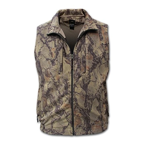 Natural Gear Camo Fleece Hunting Vest for Men and Women, Hunting Gear for Elk, Duck, Deer, or Hog Hunting, Women's and Men's Full-Zip Camo Vest (Medium) by Natural Gear
