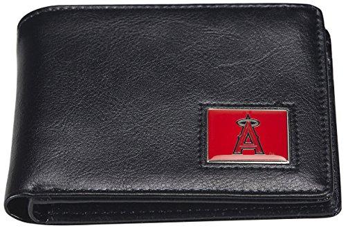MLB Los Angeles Angels Men's Leather RFiD Safe Travel Wallet ()