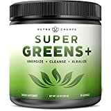 Cheap Super Greens + Premium Superfood Powder – 20+ Organic Green Veggie Whole Foods – Wheat Grass, Spirulina, Chlorella & More – Antioxidant, Digestive Enzyme & Probiotic Blends | Vegan Juice Supplement