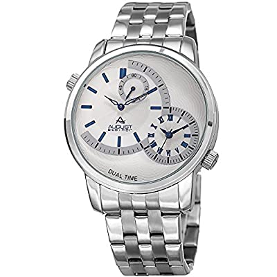 August Steiner Men's Quartz Stainless Steel Casual Watch, Color:Silver-Toned (Model: AS8210SSBU)