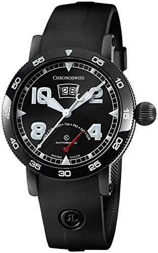 Chronoswiss-Time-Master-Mens-Date-Black-PVD-Case-Black-Face-Retrograde-Day-Black-Rubber-Strap-Swiss-Automatic-Watch-CH-8145-BK