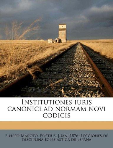 Institutiones iuris canonici ad normam novi codicis (Italian Edition) ebook
