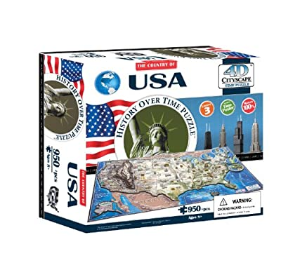4d Usa Time Puzzle from 4D Cityscape