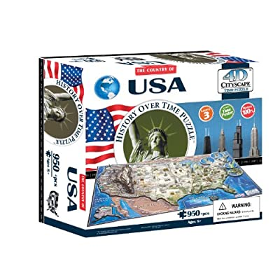 4D Cityscape USA History Time Puzzle: Toys & Games