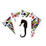 Hippocampus Marine Life Black Silhouette Poker Playing Card Tabletop Board Game Gift