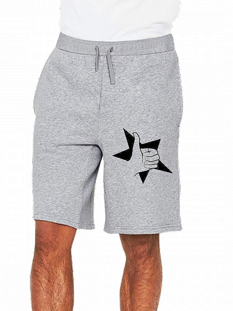 Thumbs Up Hand Mens Casual Shorts Pants