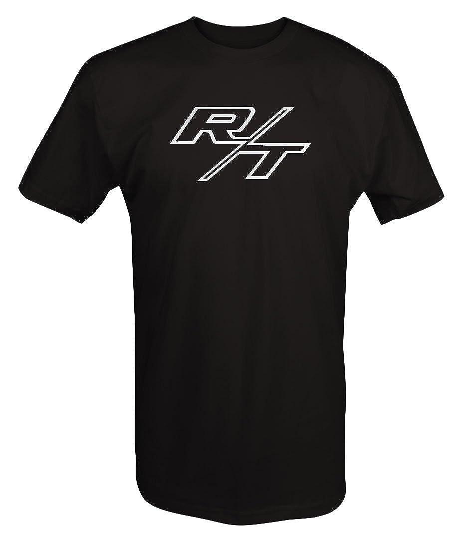 Large Shirt-H235-L-Black R//T RT Dodge Mopar Charger Challenger Hemi V8 Muscle Car Logo T shirt