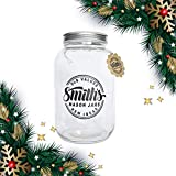 1 Gallon Glass Container by Smiths Mason Jars with 2 Lids, Great Rustic Looking Cookie Jar or Also Ideal for Brewing Kombucha Tea