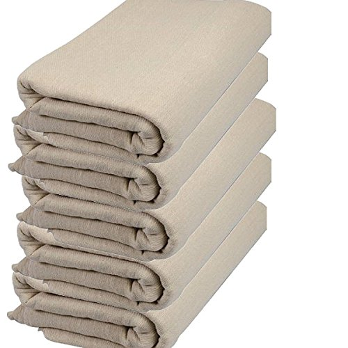 5 X 100% Cotton Twill Dust Sheets 12ft x 6ft / 3.60m x 1.84m - EQUIP247
