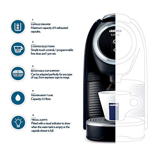 Lavazza BLUE Classy Mini Single Serve Espresso Coffee Machine LB 300