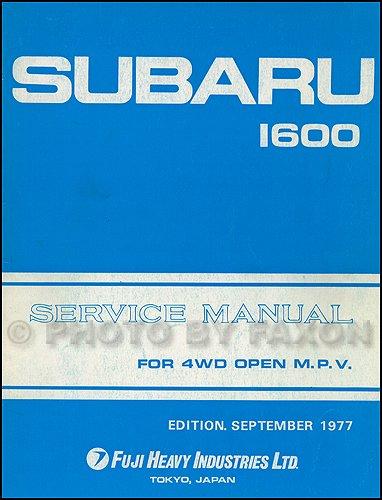 - 1978 Subaru Brat Repair Shop Manual Original Supplement