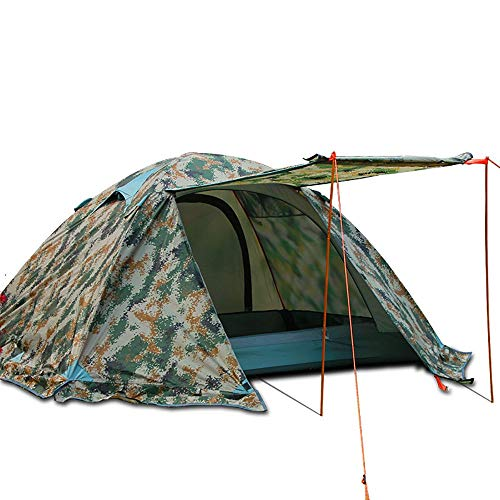 Pevor Camouflage Backpacking Tent 4 Seasons 2 Person Waterproof Dome Hiking Camping Tent