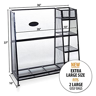 Milliard Golf Organizer - Extra Large Size - Fit 2 Golf Bags and Other Golfing Equipment and Accessories in This Handy Storage Rack - Great Gift Item from Milliard