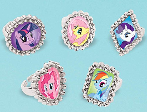 [American Greetings My Little Pony Jewel Rings, 18 Count, Party Supplies, Multicolored] (Pony For Sale Good With Kids Halloween Costume)