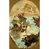 Canvas Prints Of Oil Painting ' The Miracle Of The Holy House Of Loreto, About 1744 By Giovanni Battista Tiepolo ' , 24 x 39 inch / 61 x 98 cm , Polyster Canvas, Bar, Foyer And Home Office Decoration