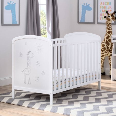 Delta Children ModBaby 3-in-1 Convertible Crib, Bianca with Animal Motif by Delta