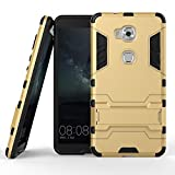 DWay Huawei Honor 5X Case Hybrid Armor Design with Stand Feature 2 In 1 Combo Dual Layer Detachable Protective Shell Phone Hard Back Cover Case for Huawei Honor 5X 5.5inches (Gold)