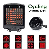 Gazelle Trading Bicycle Turn Signals Waterproof Remote Control Wireless RechargeableTail Light 64 LED Bike Rear Tail Red Laser Light Safety Warning Line Easy to Install For Sale