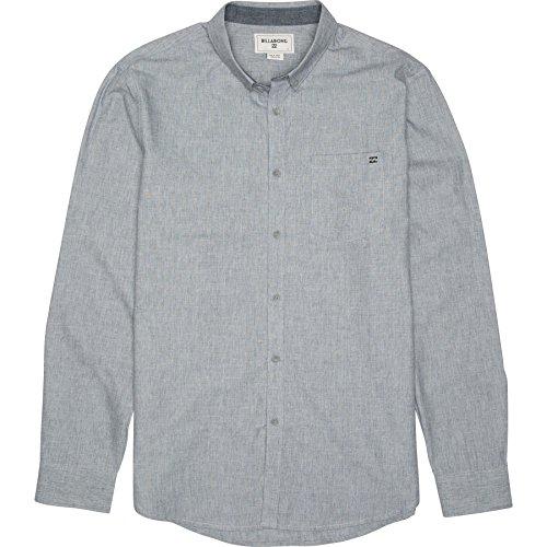 (Billabong Men's All Day Long Sleeve Woven Shirt, Navy, Large)