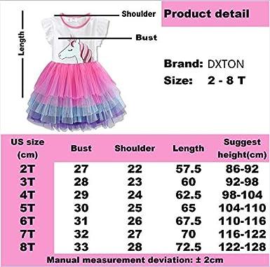 DXTON Little Girl Children Summer Short Sleeve Tutu Party Wedding Birthday Dresses