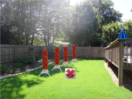 Vertical Gardening Vegetable Tower Indoor Outdoor Tiered Backyard Plant Stand And Pots