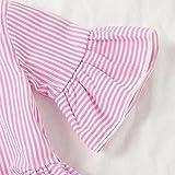 Toddler Girls Clothes Purple Ruffle Short Sleeve