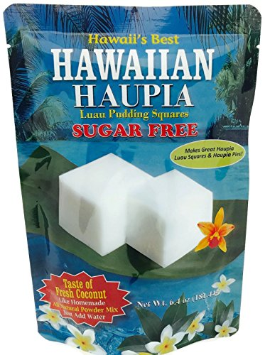 Kauai Tropical Syrup Sugar Free Hawaiian Haupia Luau Pudding Squares, 6.4 Ounce by Kauai Tropical Syrup, Inc