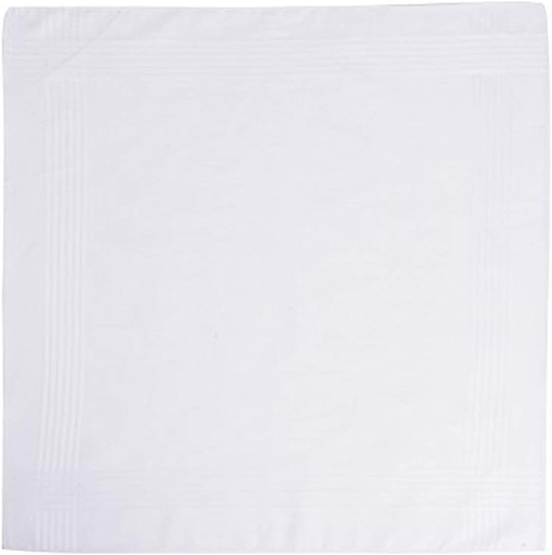 Mens Handkerchiefs 100/% Cotton White Pack of 12,Plain