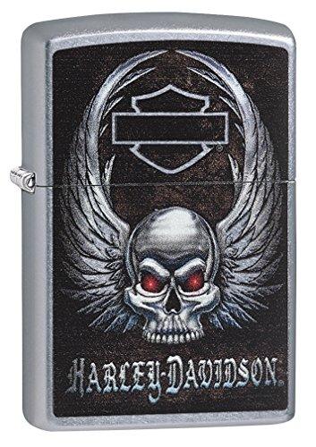 Zippo Harley Davidson Skull Street Chrome Pocket Lighter