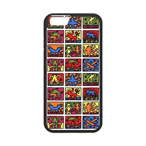iPhone 6 Case, [Keith Haring] iPhone 6 (4.7) Case Custom Durable Case Cover for iPhone6 TPU case(Laser Technology) by runtopwell