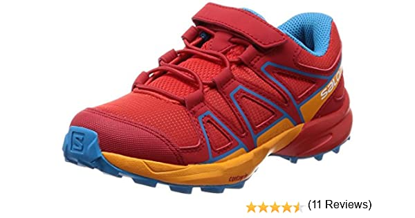 Salomon Speedcross Bungee K, Zapatillas de Trail Running Unisex Niños, Rojo (Fiery Red/Bright Marigold/Hawaiian 000), 27 EU: Amazon.es: Zapatos y complementos