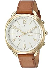 Fossil Q Accomplice Gen 2 Women's Slim Luggage Leather Hybrid Smartwatch FTW1201