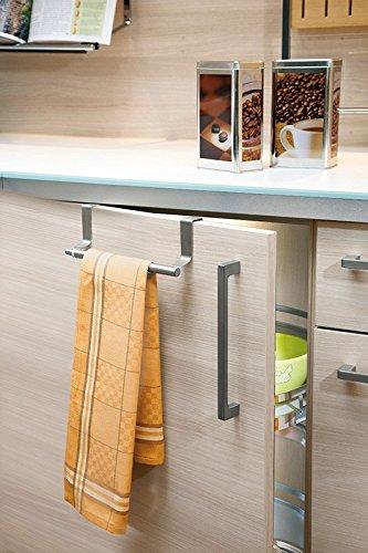 Matches21 geschirrtuchhalter ausziehbar edelstahl 22 345x6x7 cm küchenzubehör küchenaccessoir amazon de küche haushalt