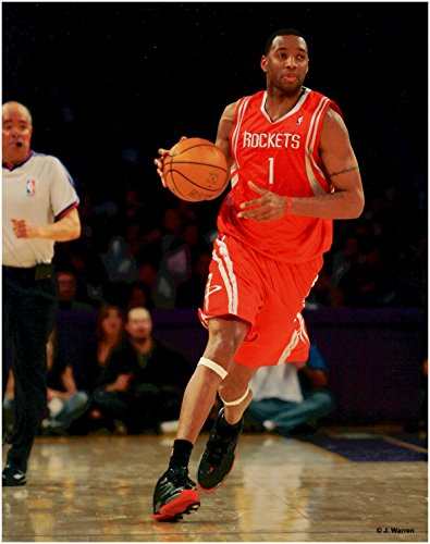 Tracy McGrady Houston Rockets Unsigned Basketball (Tracy Rockets)