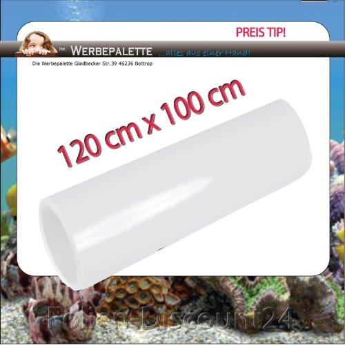 (EUR 5,75 / Quadratmeter) Aquarium Terrarium Rückwandfolie Folie WEISS 120 cm x 100 cm TOP ! Preistip