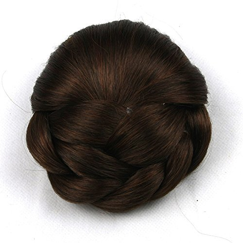 6 colors Braided Clip In Hair Bun Hair Chignon Donut Roller Hairpieces 1pc (2005) Meisi Hair MH-6542