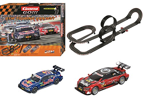 Carrera 62423 GO DTM Touring Contest Slot Race Track Set 1:43 Scale Analog System (Includes 2 Cars and 2 Controllers), Ages 8 and up from Carrera