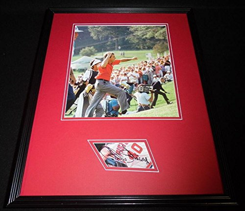- Autographed Curtis Strange Photograph - Framed 16x20 Poster Display - Autographed Golf Photos