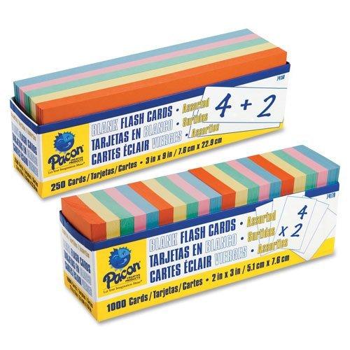 Pacon en blanco Tarjeta Flash dispensador cajas, 9 W x 3h, Assorted, 250/Unidades: Amazon.es: Amazon.es