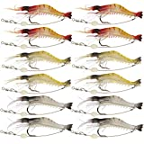 Goture Soft Lures Shrimp Bait Set, Fishing Lure for Freshwater/ Saltwater, Trout Bass Salmon