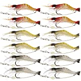 Goture Soft Lures Shrimp Bait Set, Fishing Lure for Freshwater/ Saltwater, Trout Bass Salmon,12 pieces