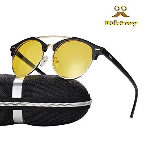 d0367aaeb2b Galleon - Night Vision Driving Glasses Polarized Anti-glare Clear Sun Glasses  Men   Women Retro Classic(Black-3)