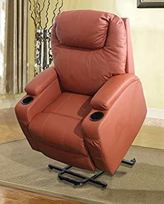 Eternity Home Recliner Massage Lift Chair with Heated Function, Orange